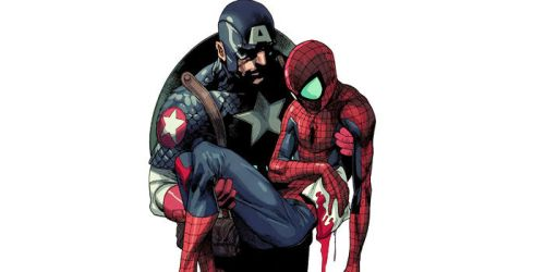 Marvel-Captain-America-Saves-Spider-Man