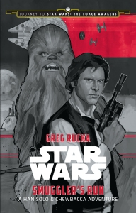 JOURNEY TO STAR WARS: THE FORCE AWAKENS: SMUGGLER'S RUN: A HAN SOLO ADVENTURE.By Greg Rucka.Illustrated by Phil Noto.Disney LucasFilm Press.On sale: September, 4, 2015.Price: $12.99 US/$13.99 CAN.ISBN: 978-1-4847-2495-8/eBook: 978-1-4847-2499-6.Ages: 10 – 14.Available: Wherever books and eBooks are sold.Short Description: In this story, set between Star Wars: A New Hope and Star Wars: The Empire Strikes Back, Han and Chewie must fly the Millennium Falcon on a top-secret mission for the Rebellion, while evading ruthless bounty hunters and a relentless imperial agent..Long Description: It is a period of civil war. The heroic freedom fighters of the REBEL ALLIANCE have won their most important victory thus far with the destruction of the Empire's ultimate weapon, the DEATH STAR. But the Rebellion has no time to savor its victory. The evil Galactic Empire has recognized the threat the rebels pose, and is now searching the galaxy for any and all information that will lead to the final destruction of the freedom fighters. For the MILLENNIUM FALCON's crew, who saved the life of Luke Skywalker during the Battle of Yavin, their involvement with the rebels is at an end. Now HAN SOLO and CHEWBACCA hope to take their reward and settle some old debts…